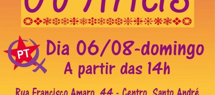 """PT Santo André convida para """"Bingo das Minas"""" neste domingo (6)"""