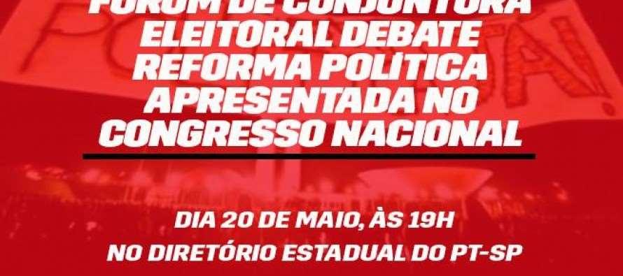Nesta quarta (20/05), Fórum de Conjuntura Eleitoral debate reforma política apresentada no Congresso Nacional