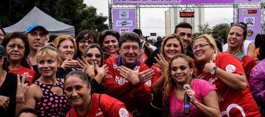 Prefeito Carlos Grana (PT) participou de corrida: MULHER DETERMINADA
