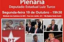 #AgendaPT (19/10): Luiz Turco convida – Plenária de prestação de contas
