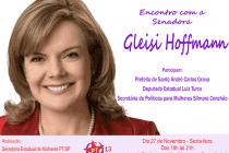 #AgendaPT (27/11): Prefeito Carlos Grana e o Deputado Luiz Turco convidam para encontro com a Senadora Gleisi  Hoffmann