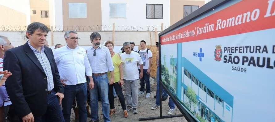 """Haddad:  """"3 hospitais gerais, 20 hospitais/Dia, 16 UBS novas e mais 15 UPAs"""""""