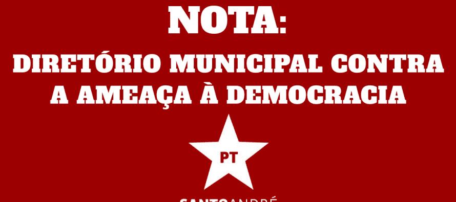 DIRETÓRIO MUNICIPAL CONTRA A AMEAÇA À DEMOCRACIA