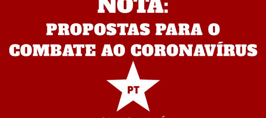 NOTA: PROPOSTAS DE COMBATE AO CORONAVÍRUS
