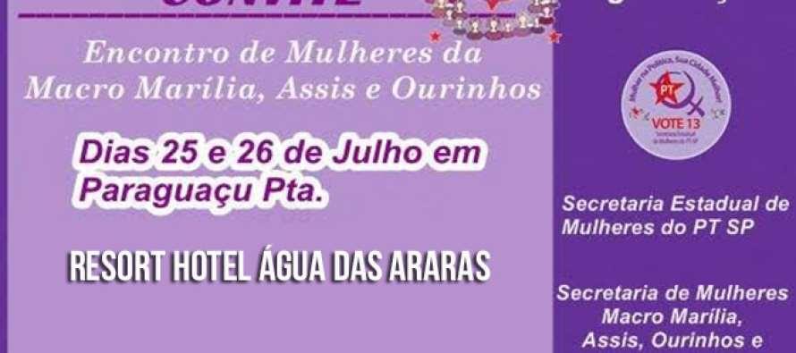 1º Encontro de Mulheres da Macro Marília, Assis e Ourinhos acontece nos dias 25 e 26 de julho