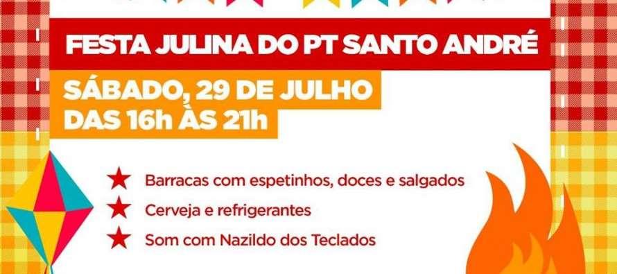 Festa Julina do PT Santo André acontece no próximo sábado (29)