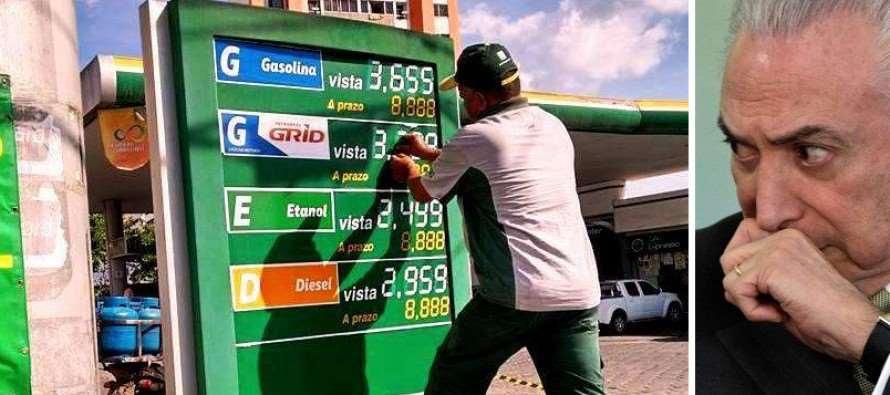 Juiz do DF suspende aumento dos combustíveis promovido pelo governo Temer