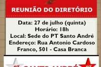 Reunião do Diretório do PT Santo André acontece nesta quinta (27)