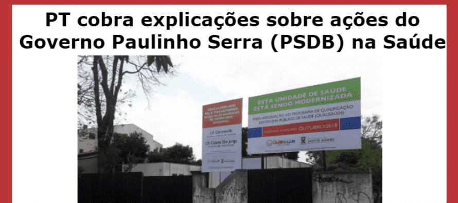 PT Santo André protocola documento que cobra explicações sobre ações do Governo Paulinho Serra (PSDB) na Saúde