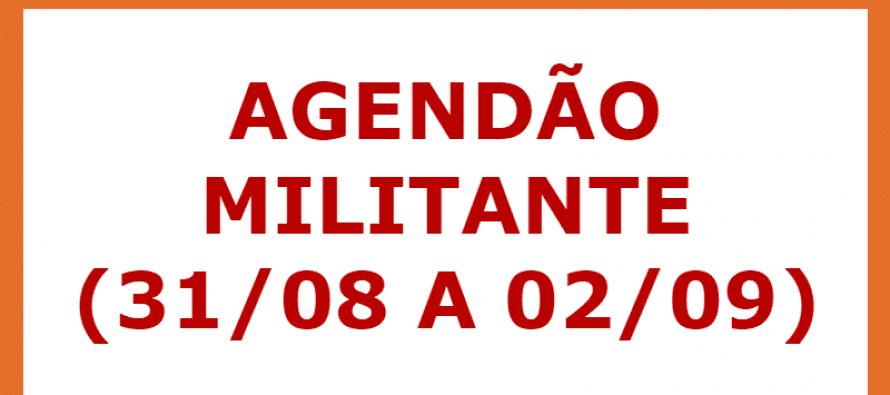 PT Santo André divulga agenda militante (31/08 a 02/09)