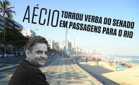 Aécio gasta mais com viagens ao Rio do que para Minas, estado que o elegeu