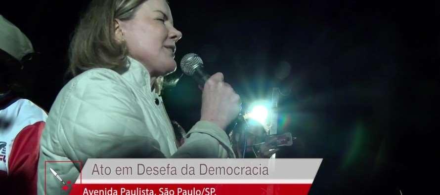 Gleisi Hoffmann | Ato em defesa da Democracia
