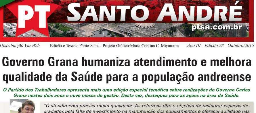 Boletim digital PT Santo André: Confira as realizações na Saúde