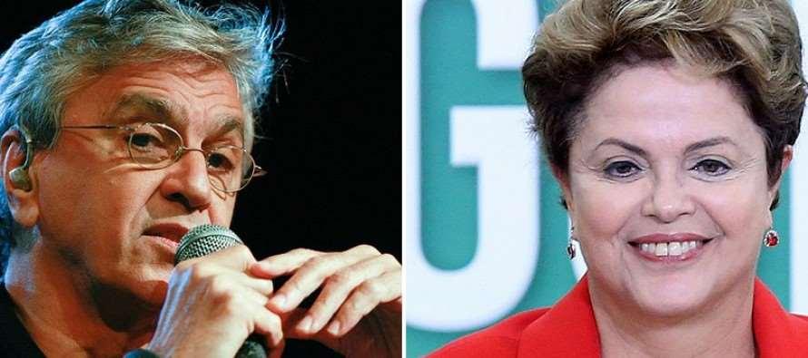 "Caetano declara voto:""Prefiro #Dilma agoa"""