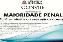 (04/05) Audiência Pública na Alesp busca ampliar debate e reforçar mobilização contra a redução da maioridade penal