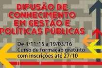 #AtividadesPT: Atenção, últimos dias para se inscrever em curso de gestão e políticas públicas