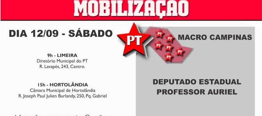 #DiadeMobilizaçãoPTSP – Campinas