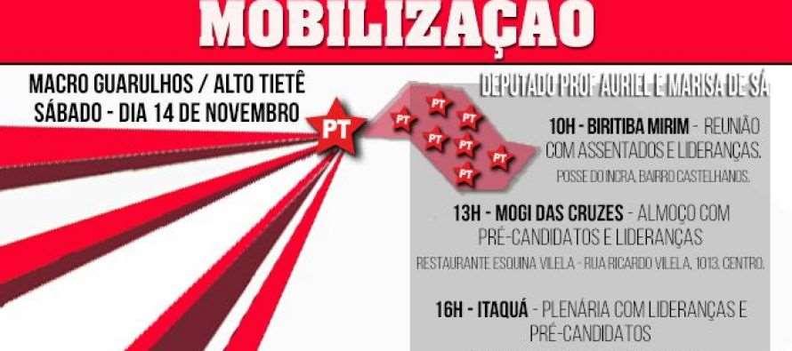 #DiadeMobilizaçãoPTSP: Macro Guarulhos/ Alto Tietê – Professor Auriel participa do #DiadeMobilizaçãoPTSPneste sábado (14)