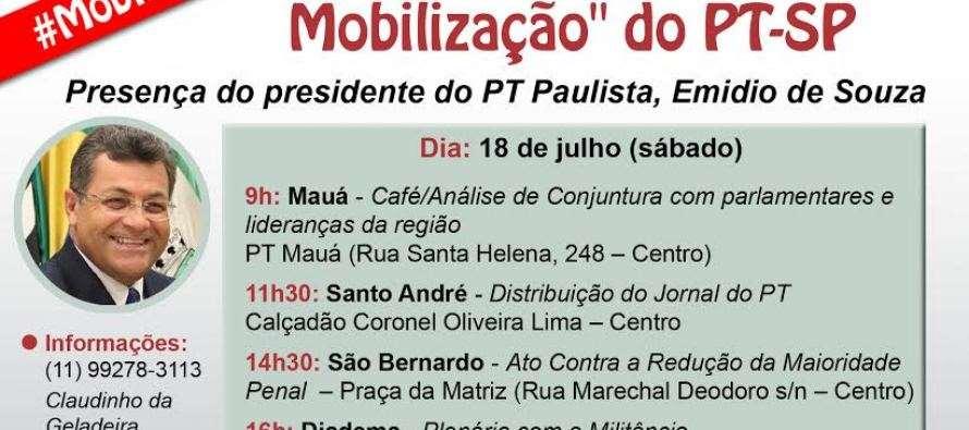 Em defesa da democracia, Emidio percorre o ABC no #DiadeMobilizaçãoPTSP neste sábado (18)