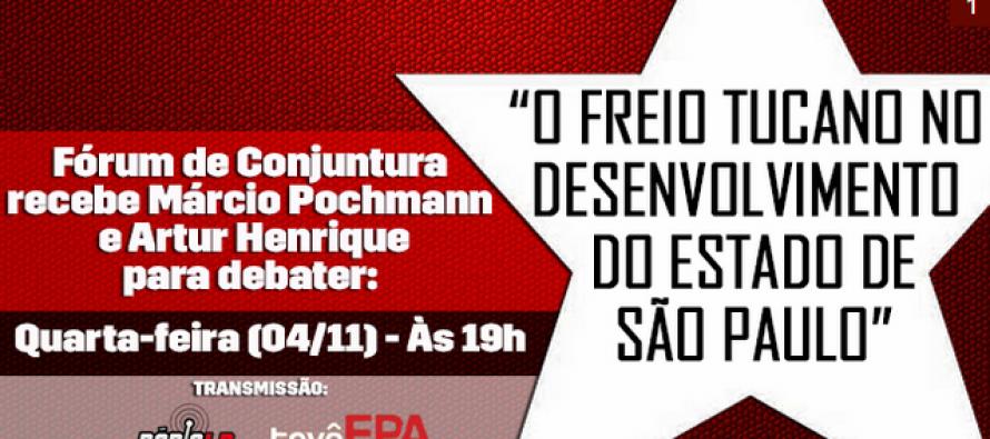 Acompanhe à 15ª Edição do Fórum de Conjuntura com Marcio Pochmann e Henrique Artur #AoVivo