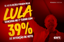 Pesquisa Vox Populi: Lula vence no 1° turno