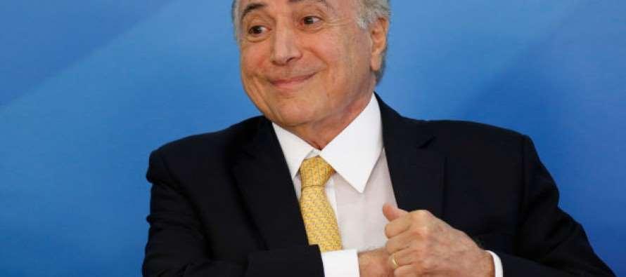 Odebrecht pagou propinas ao PMDB após reunião com chefe de quadrilha, Michel Temer