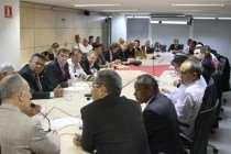 Rui Falcão se reúne com deputados petistas em Brasília