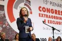 Em Congresso da CUT, Gleisi Hoffmann destaca importância de sindicatos na luta contra o golpe