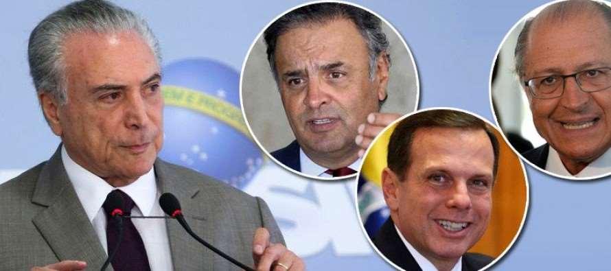 """Aliado do golpe, PSDB decide apoiar a """"quadrilha"""" de Temer e rejeitar denúncia"""