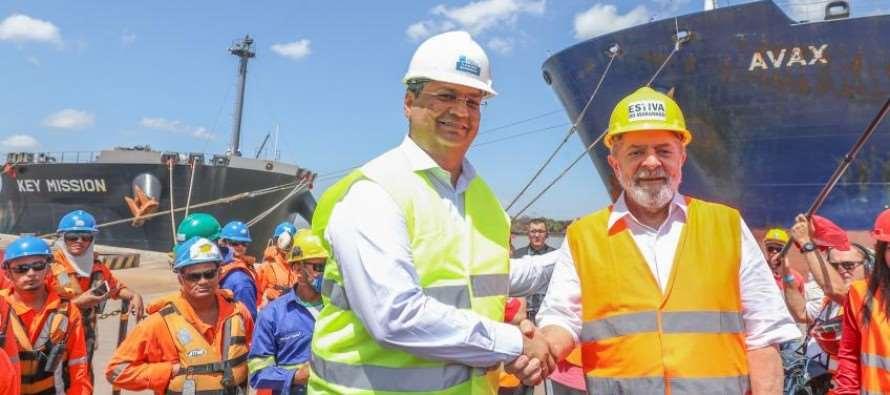 """Lula no Maranhão: Visita ao Porto de Itaqui, no último dia da """"Caravana da Esperança"""""""
