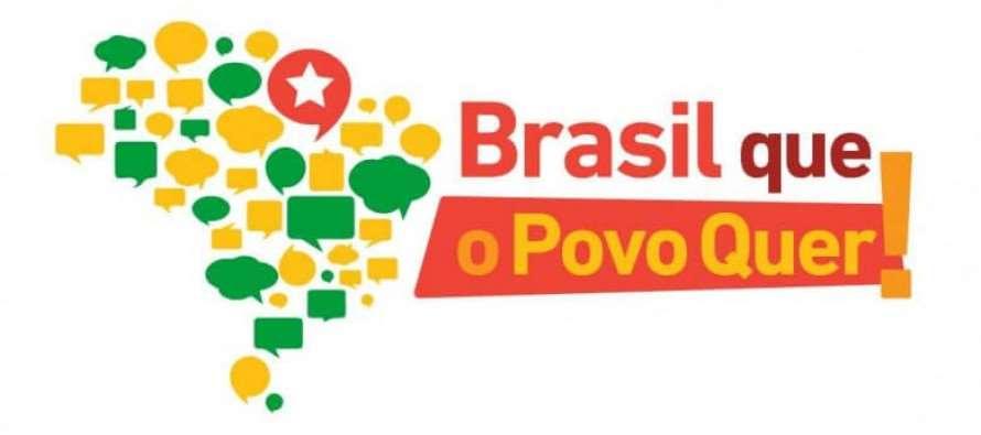 AO VIVO: Lançamento da plataforma Brasil Que O Povo Quer