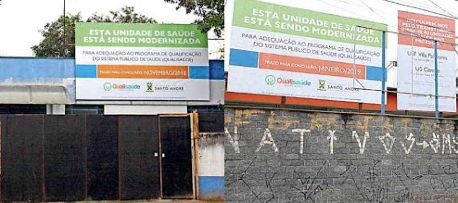 A falácia da reforma das unidades de saúde em Santo André: três meses e nenhuma obra