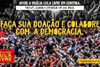 Já está no ar o site da campanha de arrecadação Lula Livre